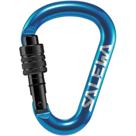 SALEWA HMS Screw G2 Carabiner Medium, blue